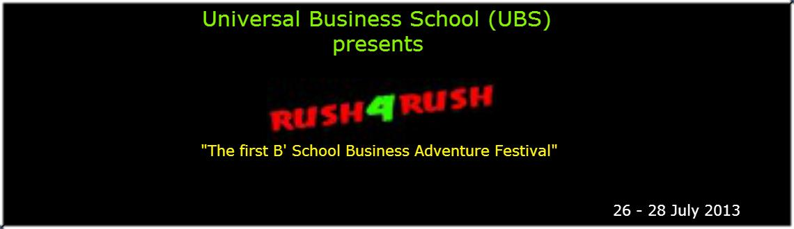 ​Rush4Rush-The first B School Business Adventure Festival