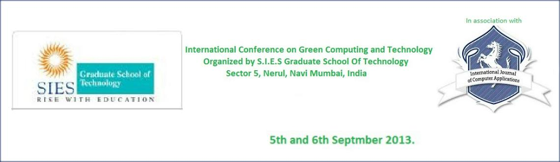 International Conference On Green Computing and Technology