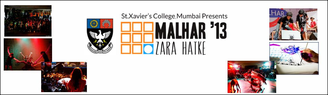 Book Online Tickets for Malhar-2013, Mumbai.       Malhar Conclave - 2013     Event List: The following events have topics/songs/materials/tracks that the  participants are required to choose from/incorporate as per the  respective requirements given in the Rules and Reg