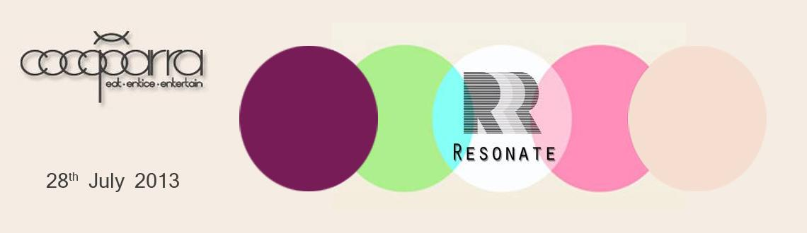 Sonic Productions Presents Resonate on 28th July