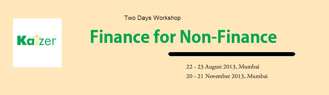 Book Online Tickets for Workshop on Finance for Non-Finance, Mumbai. 