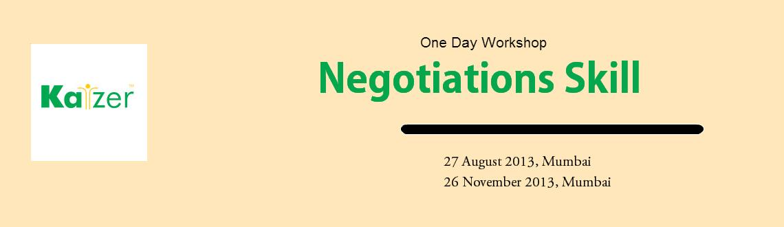 Book Online Tickets for Negotiation Skill, Mumbai.  