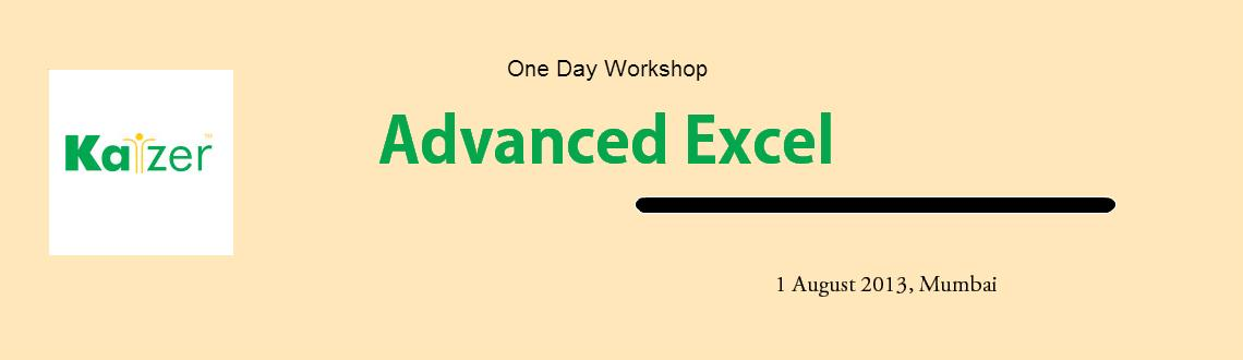 Book Online Tickets for Workshop on Advanced Excel, Mumbai.  