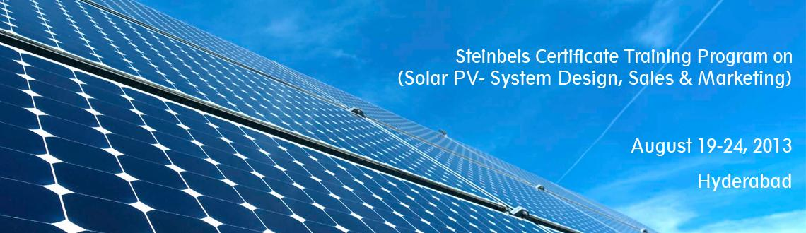 Book Online Tickets for Steinbeis Certificate Training Program o, Hyderabad. Solar PV Certificate Program is a comprehensive training program being organized with focus on Solar Power Plants which would provide