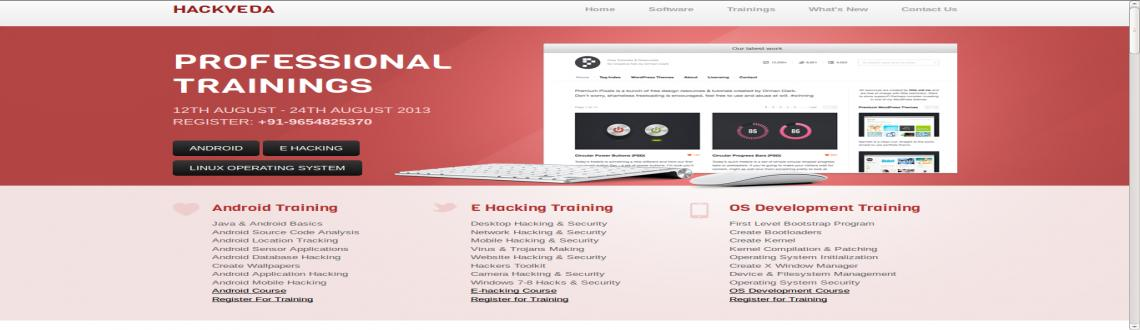 Book Online Tickets for Hackveda Professional Training, NewDelhi. Hackveda Professional Training