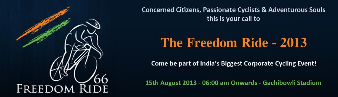 Book Online Tickets for The Freedom Ride 2013, Hyderabad. The Freedom Ride 2013