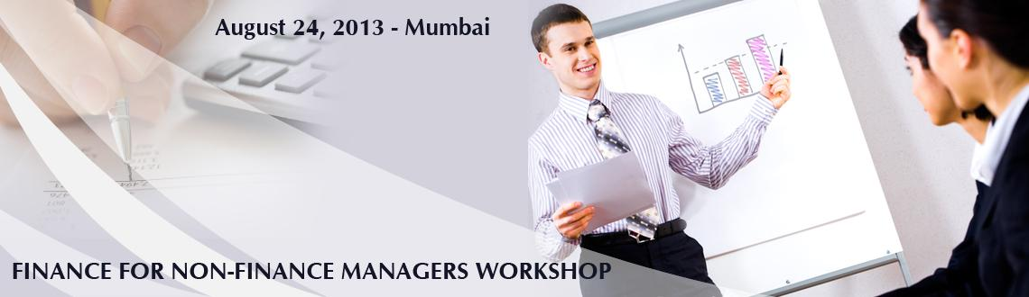 FINANCE FOR NON-FINANCE MANAGERS WORKSHOP @ Mumbai