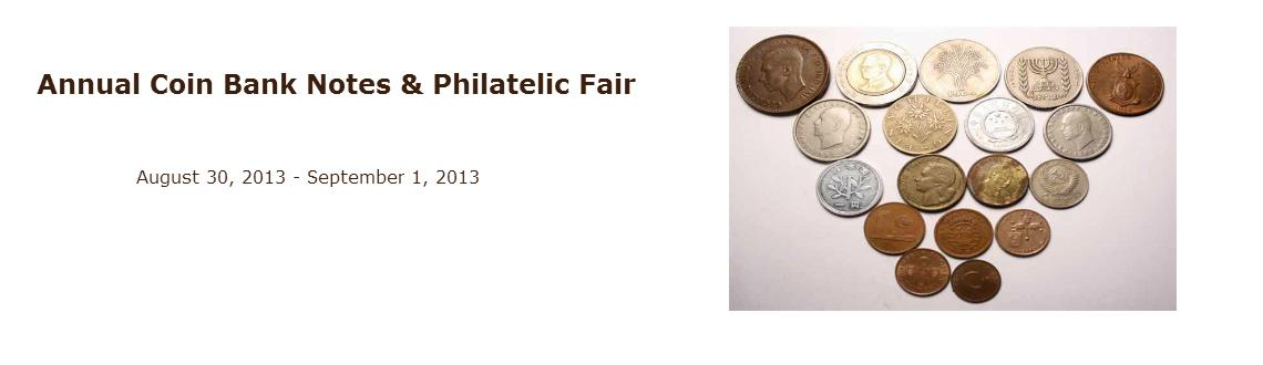 Book Online Tickets for Annual Coin Bank Notes & Philatelic Fair, Mumbai.    Annual Coin Bank Notes & Philatelic Fair     If you have an interest in vintage coins, then make sure you join in and be apart of this unique exhibition titled \\\'Annual Coin Bank Notes and Philatelic Fair\\\'.   This is your