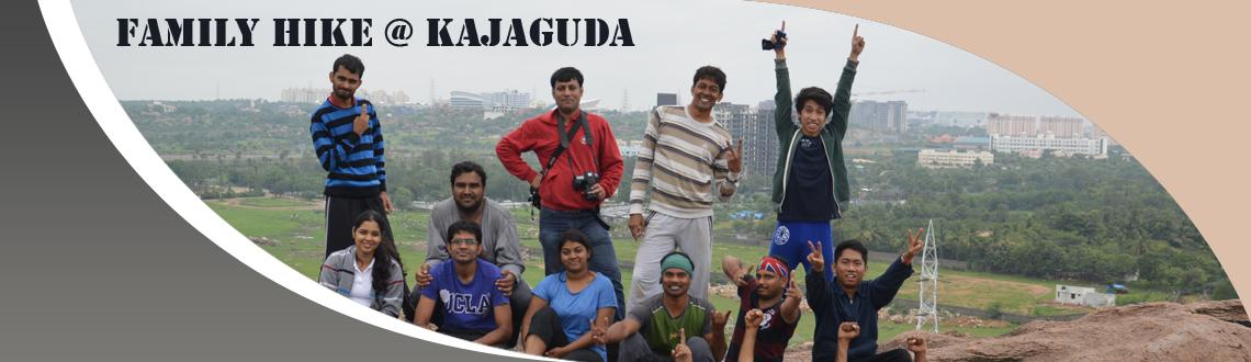 Book Online Tickets for Family Hike@Kajaguda - Adventure Togethe, Hyderabad. About place: Kajaguda is 1 km away from West Durgam Cheruvu. This place has lot of boulders, a lake and numereous amazing caves.  We will hike from the place to the lake nearby and then back to the rocks. There are many peacocks on these rocks.P