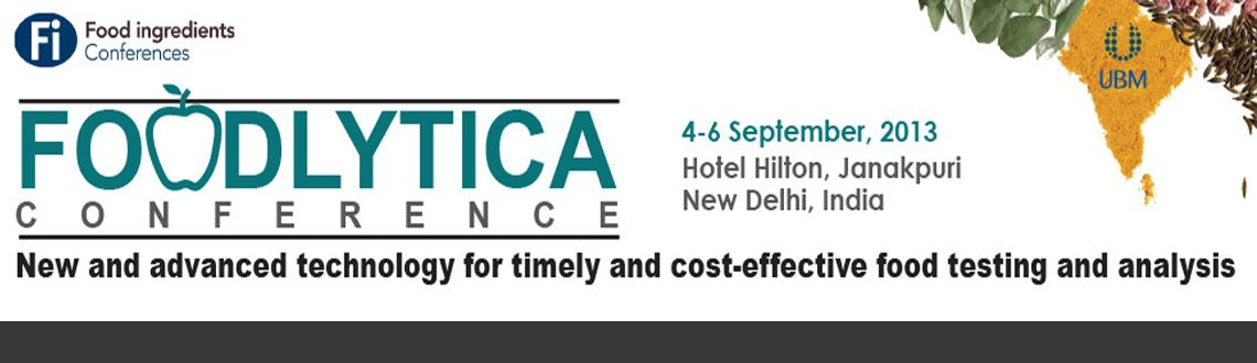 Book Online Tickets for FoodLytica Conference, NewDelhi. Two-Day Conference: 4-5 September, 2013, 2 Half-Day Workshops: 6 September, 2013New Delhi, India*Dr. Sumit Sen will be attending and chairing/moderating this conference on his own time and will not be officially representing US FDA at this confe