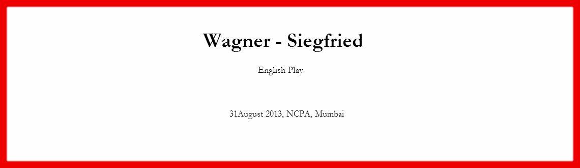 Wagner-Siegfried