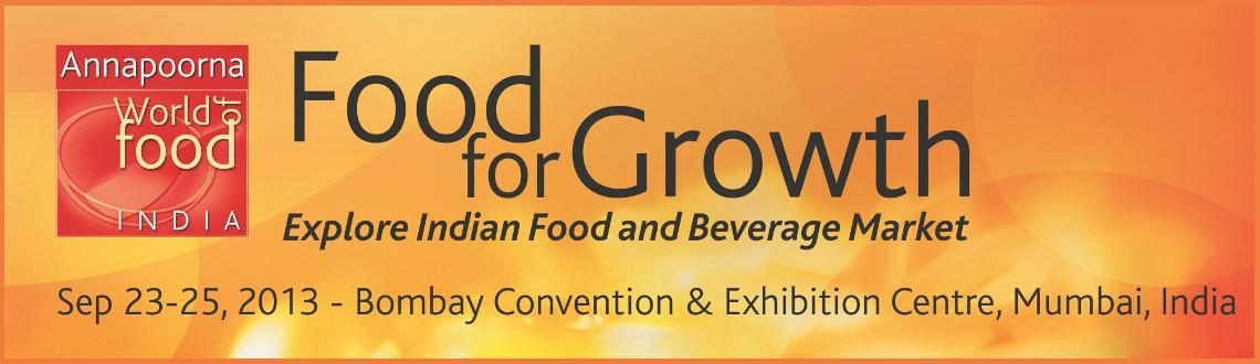 Book Online Tickets for World of food India 2013, Mumbai. 