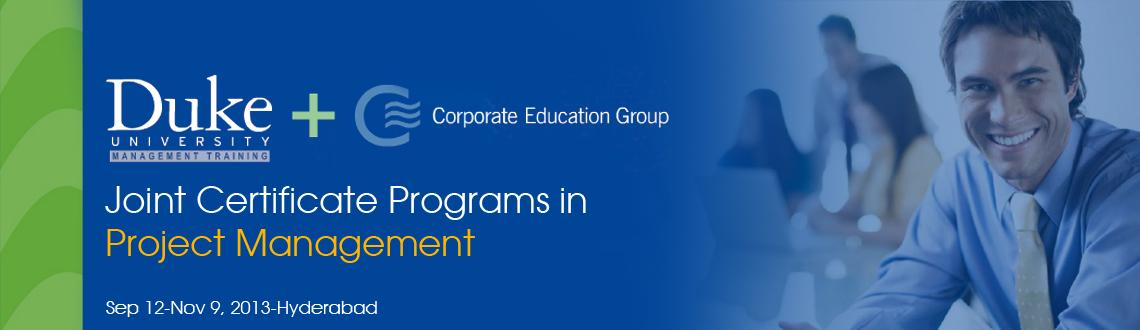 Joint Certificate Programs in Project Management Duke University Management Training + Corporate Education Group, US
