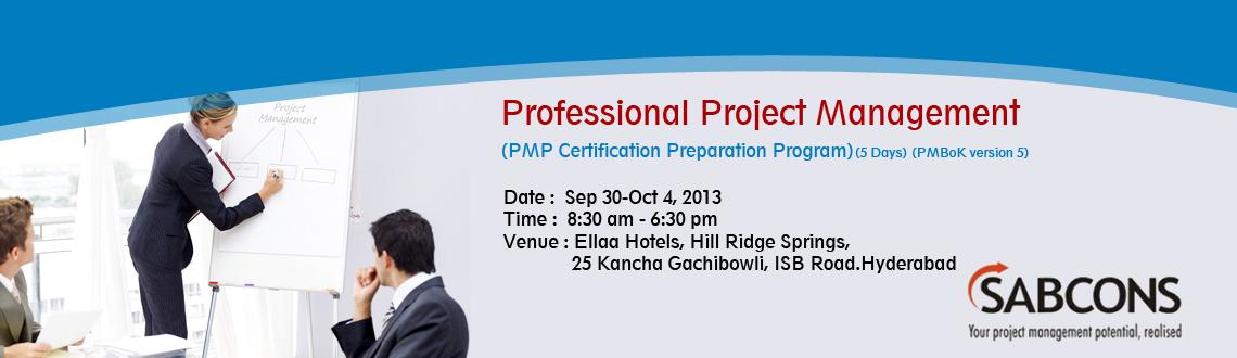 Professional Project Management<br>(PMP Certification Preparation Program) - PMBoK Version 5 - Hyderabad