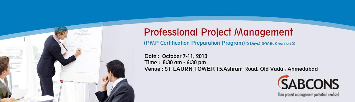 Professional Project Management<br>(PMP Certification Preparation Program) - PMBoK Version 5 - Ahmedabad