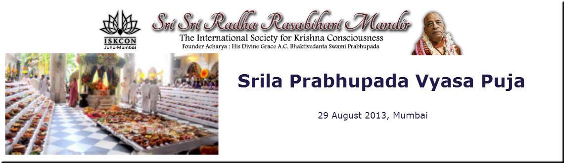 Srila Prabhupada Vyasa Puja