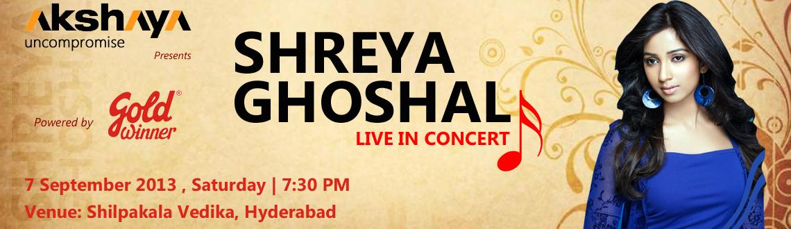 Shreya Ghoshal Live Concert in Hyderabad