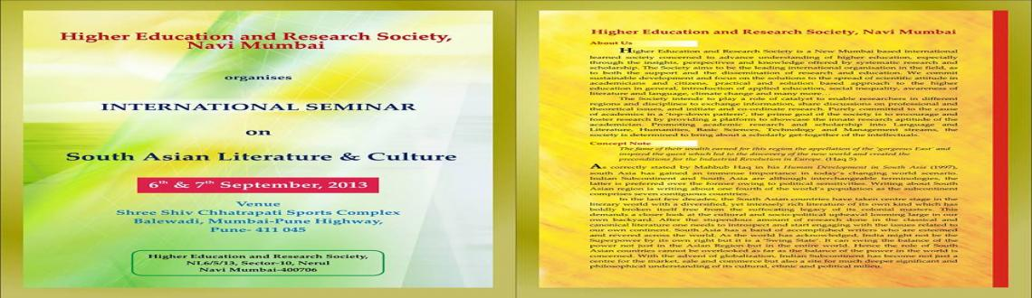 International seminar on South Asian Literature & Culture