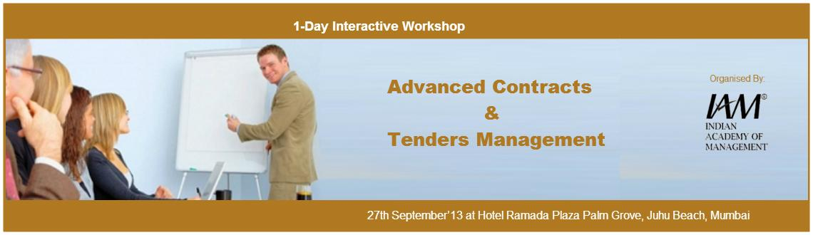 Book Online Tickets for Advanced Contracts & Tenders Management, Mumbai.  