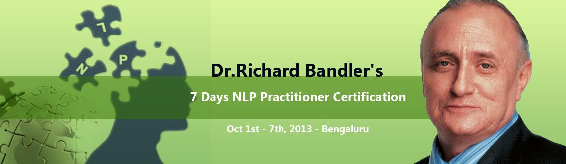 Dr.Richard Bandler's 7 Days NLP Practitioner Certification In Bangalore – BestLife NLP Training with Sat and Siri