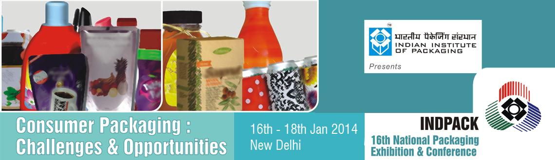 Book Online Tickets for INDPACK 2014, NewDelhi. The Indian Institute of Packaging (IIP), an autonomous body under the ministry of commerce and industry, Government of India, encourages Mumbai/Maharashtra based packaging manufacturers to register for INDPACK 2014. 