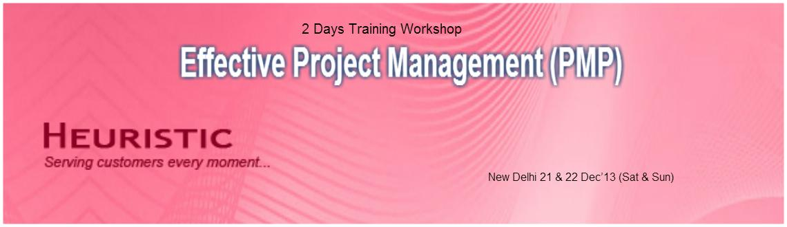 Book Online Tickets for Effective Project Management (PMP) - Del, NewDelhi. Effective Project Management (PMP)  Project Management is the key focus area nowadays because Managing Projects is one of the difficult task. A  project isn\'t something that\'s part of normal business operations. A  project consumes resource