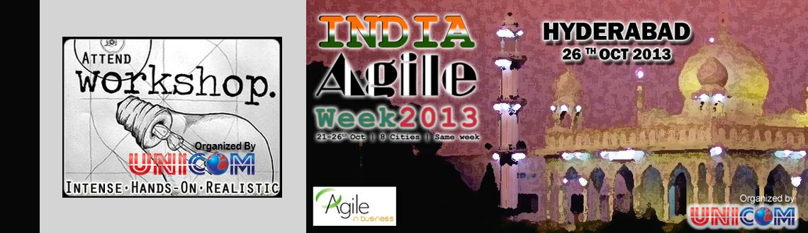 Book Online Tickets for India Agile Week 2013 @ Hyderabad , Hyderabad. \