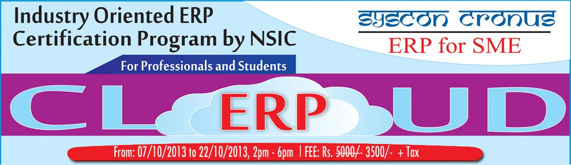 Industry Oriented ERP Certification Program by NSIC