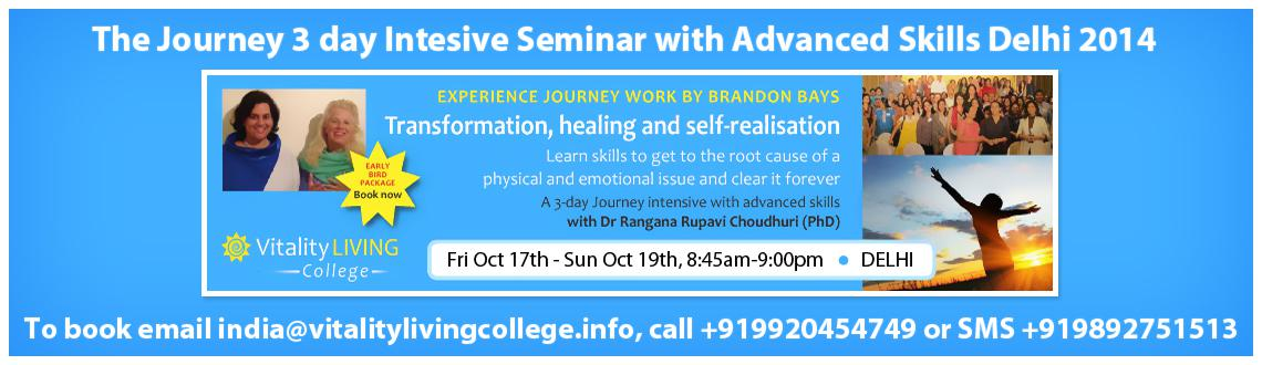 The Journey 3 day Intensive Seminar with Advanced skills Delhi Oct 2014 with Dr Rangana Rupavi Choudhuri
