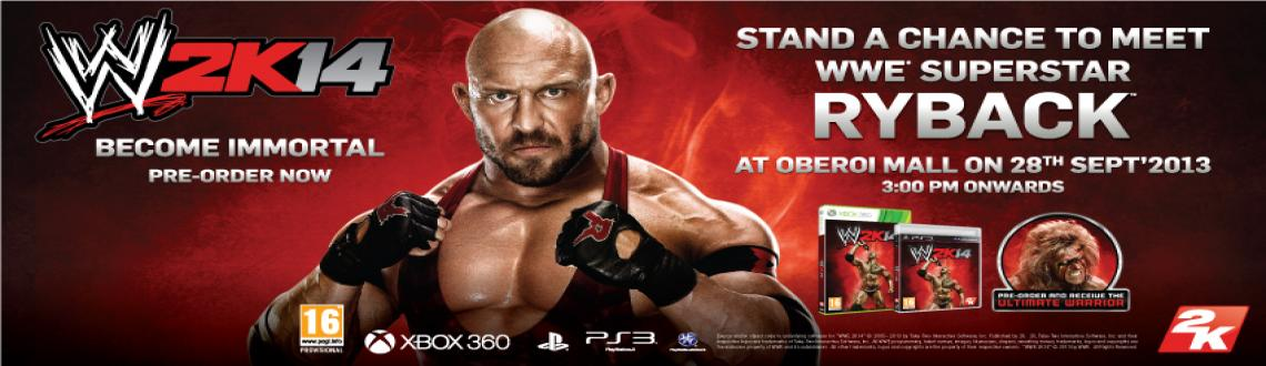 Book Online Tickets for MEET WWE SUPERSTAR RYBACK IN INDIA, Mumbai. WWE Universe here is a great opportunity to meet your Superstar RYBACK.   A popular superstar from WWE is available as a character in the game  WWE 2K14 and he will be present to reveal the second Pre-Order Incentive  of the new WWE game, exclusively