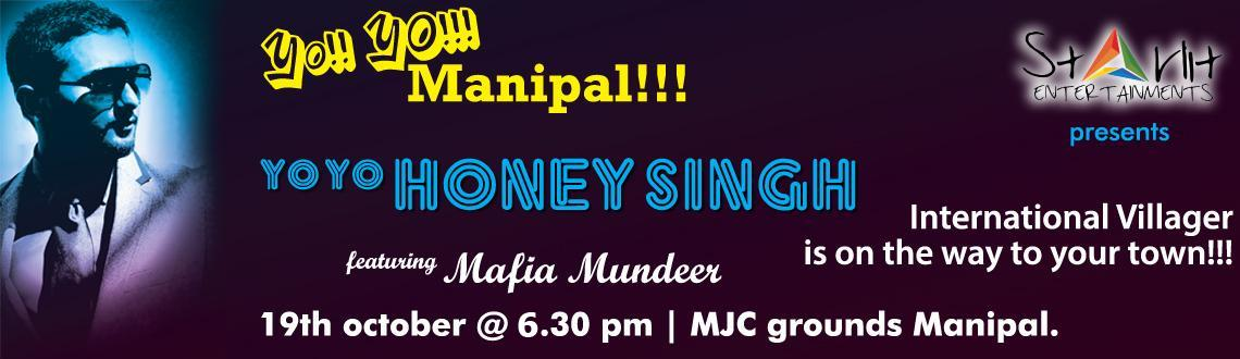 Book Online Tickets for INTERNATIONAL VILLAGER IN VALLEY - Yo! Y, Manipal. The ruler of Indi-pop world, much-admired for his beat bashing numbers is all set to land in the Valley of Manipal to take the denizen music lovers for an evening of musical trance. The youthful singer-rapper, popularly known as Yo Yo Honey Singh is
