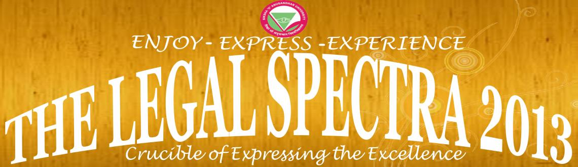 The Legal Spectra 2013