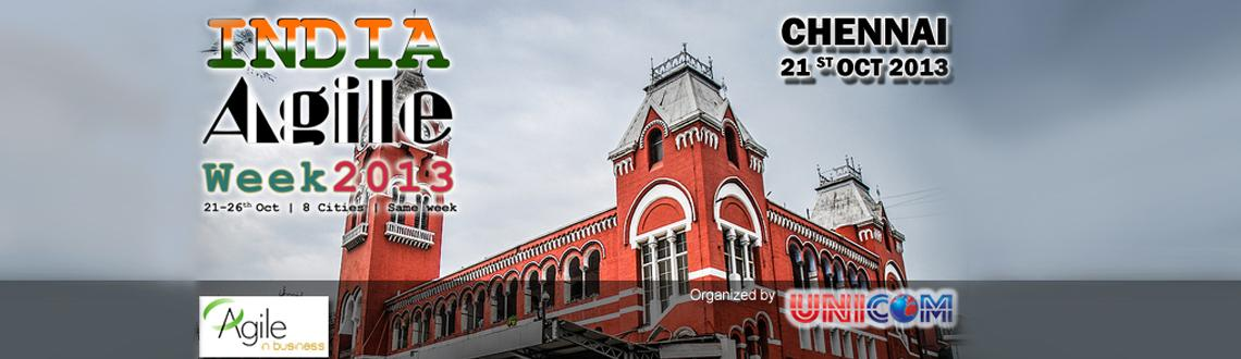 Book Online Tickets for India Agile Week 2013 @ Chennai, Chennai. \
