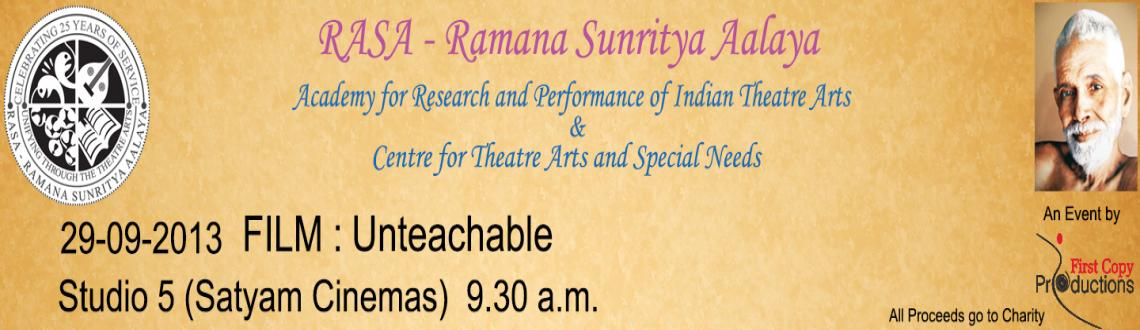 Book Online Tickets for RASA - Unteachable, Chennai. Unteachable - Drama - Germany - 2010 - 82 min  Illiteracy still exists in many countries... There are lakhs of people suffering from it. This is the story of a woman who struggled to educate herself at the age of 40. The film show