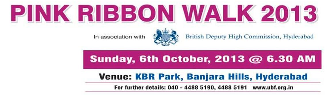 Book Online Tickets for PINK RIBBON WALK 2013, Hyderabad. PINK RIBBON WALK 2013Creating awareness...impacting lives