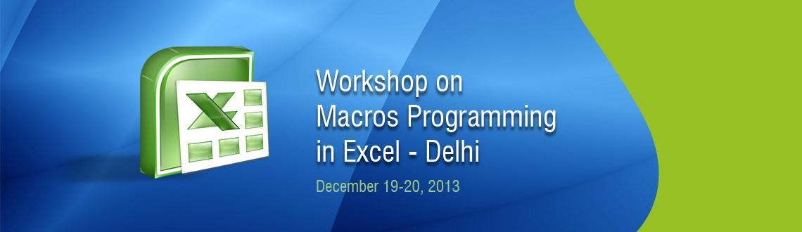 Workshop on Macros Programming in Excel - Delhi