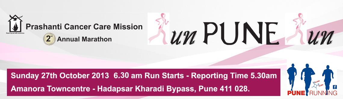Prashanti Cancer Care Mission presents 2nd Annual Marathon Run Pune Run on 27th Oct.13
