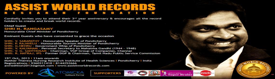 Book Online Tickets for Assist World Records, Pondicherr.