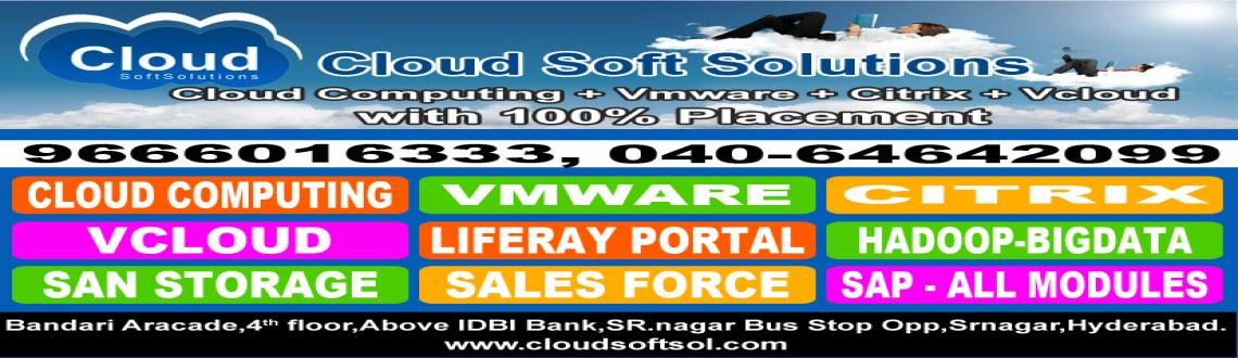 Book Online Tickets for 100% job Guarantee Batch on Cloud Comput, Hyderabad. Cloud Soft Solutions 1000+ Placements in Top MNC\'S (Job in MNC with in 90-180* days) The BEST TRAININGS
