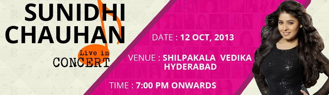 Book Online Tickets for Sunidhi Chauhan live in concert @ Hydera, Hyderabad. The Halkat Jawani singer, Sunidhi Chauhan is all set to sweep her fans in the Land of Nawabs off their feet as she is gearing up for her live concert in Hyderabad this October. Sunidhi Chauhan, is among the most sought after singing sensations in the