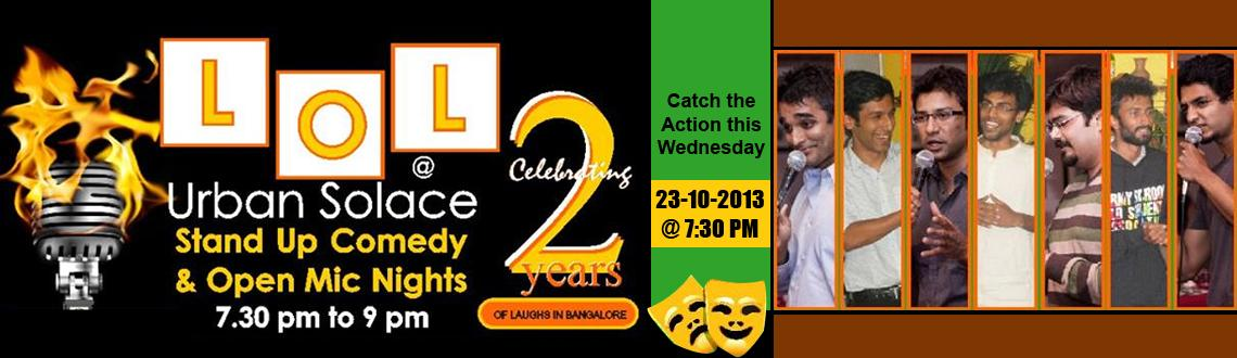 Book Online Tickets for LOL@Urban Solace, Bengaluru.  