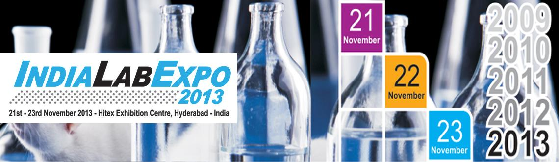 Book Online Tickets for India Lab Expo 2013, Hyderabad. The fifth India Lab Expo 2013 show ranks as one  of the prime scientific and laboratory sector trade show in India. The  show is organized to focus on the latest trends and technology of the  industry. This platform always provides the immediate and