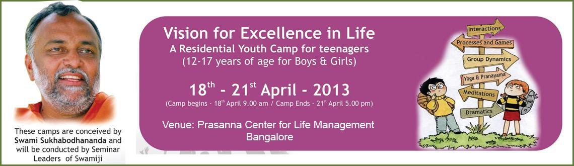 Residential Youth Camp (12-17Yrs of age for Boys & Girls) @ Bangalore