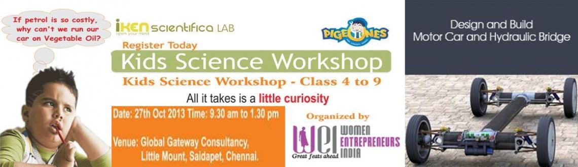Book Online Tickets for Design and Build – Motor Car and Hydra, Chennai. Description: Exciting science workshop for kids from 4th to 9th standard! Learn how to build Motor Car and Hydraulic Bridge. Have fun with science and learn simple mechanical concepts!!