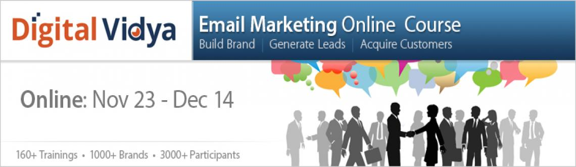 Email Marketing Course Nov 23 - Dec 14 Online