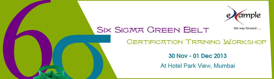 Six Sigma Green Belt Certification Training Workshop