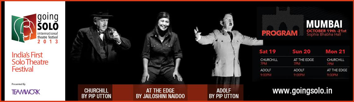 Book Online Tickets for Teamwork Presents Going Solo Internation, Mumbai. Aiming to capture an inspiring theatrical experience, Teamwork is proud to present India's only International Solo Theatre festival. Going solo pays homage to one man acts, bringing together award winning and awe-inspiring solo acts f