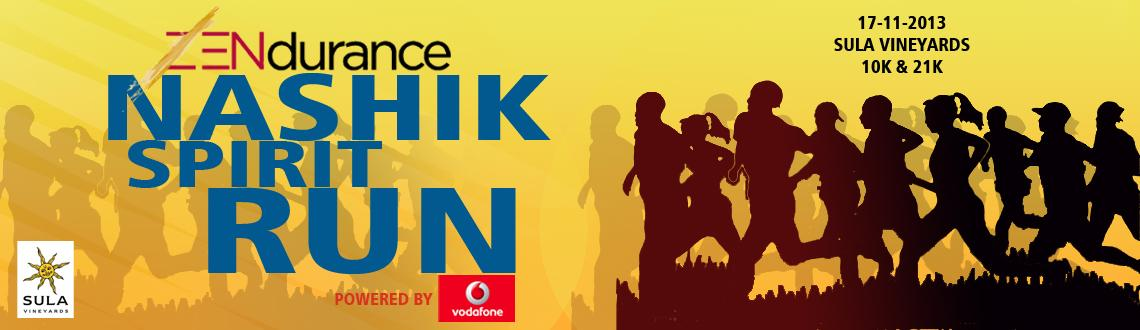 Zendurance presents Nashik Spirit Run on 17th Nov. @ Sula Vineyard, Nashik