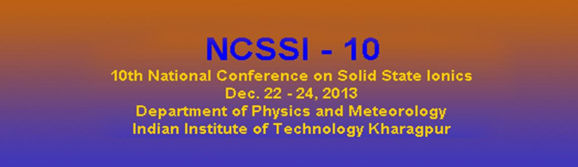 10th-national conference on solid state ionics-2013