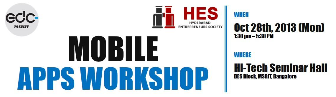 Book Online Tickets for Mobile Apps Workshop, Bengaluru. What will you learn?